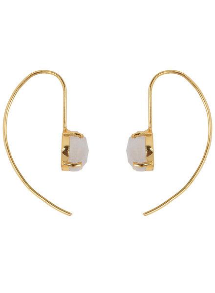 Marissa Eykenloof Sara Gold earring with Moonstone