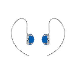 Marissa Eykenloof Silver earring with Blue chalcedony