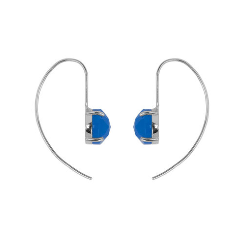 Marissa Eykenloof Sara Silver earring with Blue chalcedony