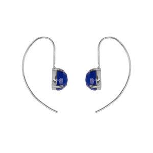 Marissa Eykenloof Silver earring with Blue Aventurine
