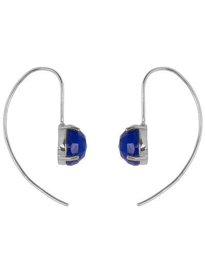 Marissa Eykenloof Sara Silver earring with Blue Aventurine