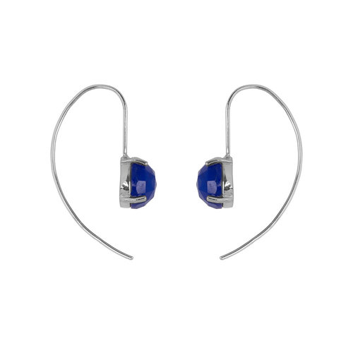 Marissa Eykenloof Sara Silver earring with Blue Aventurine
