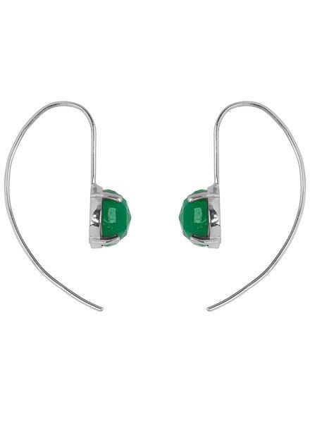 Marissa Eykenloof Sara Silver earring with Green Aventurine
