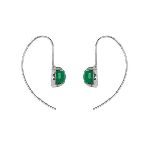 Marissa Eykenloof Silver earring with Green Aventurine