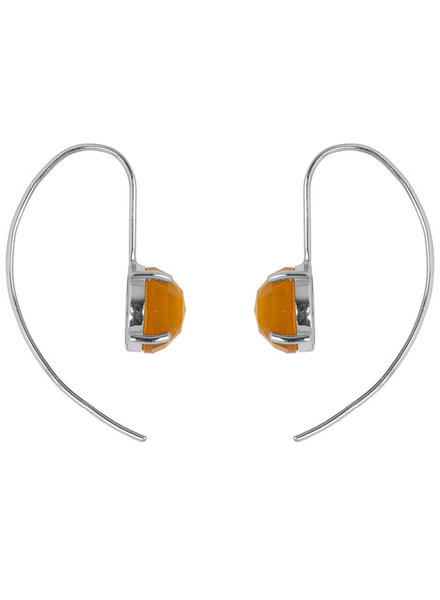 Marissa Eykenloof Sara Silver earring with Yellow chalcedony