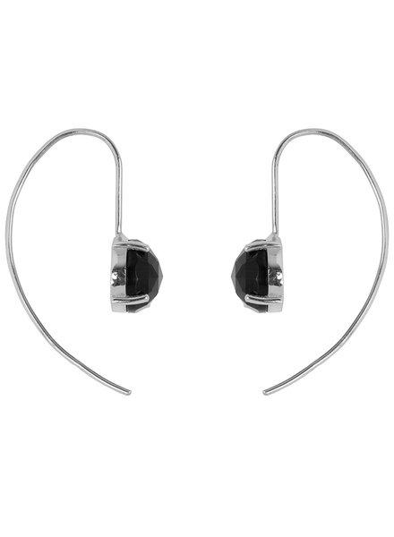 Marissa Eykenloof Sara Silver earring with Black Onyx
