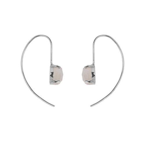 Marissa Eykenloof Silver earring with Moonstone