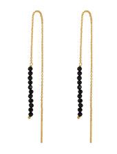 Marissa Eykenloof Gold earring black onyx beads