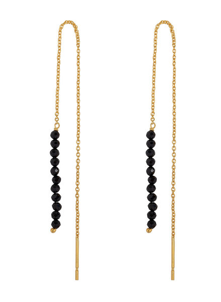 Marissa Eykenloof Gold earring black onyx beads