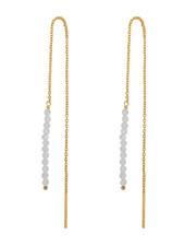 Marissa Eykenloof Gold earring moonstone beads