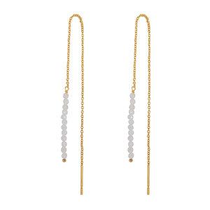 Marissa Eykenloof Gold earring moonstone beads