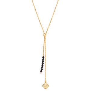 Marissa Eykenloof Gold necklace black onyx beads
