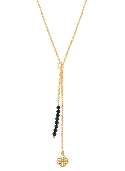 Marissa Eykenloof Gold necklace black onyx beads