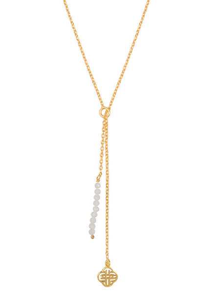 Marissa Eykenloof Gold necklace moonstone beads