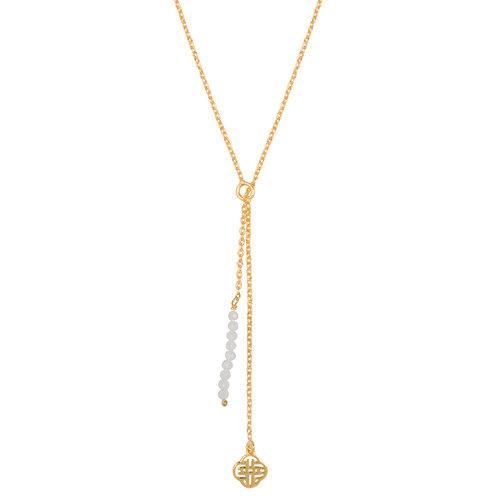 Marissa Eykenloof Gold necklace moonstone beads