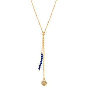 Marissa Eykenloof Gold necklace Lapis lazuli beads