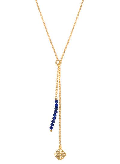Marissa Eykenloof Gouden Eva ketting met Lapis lazuli kralen