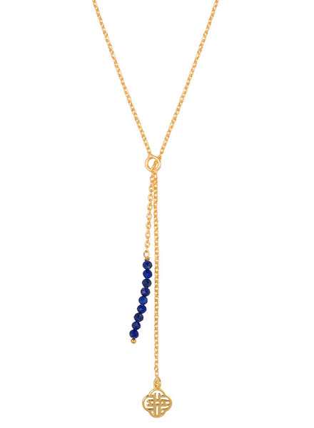 Marissa Eykenloof Gold necklace Lapis lazuli beads