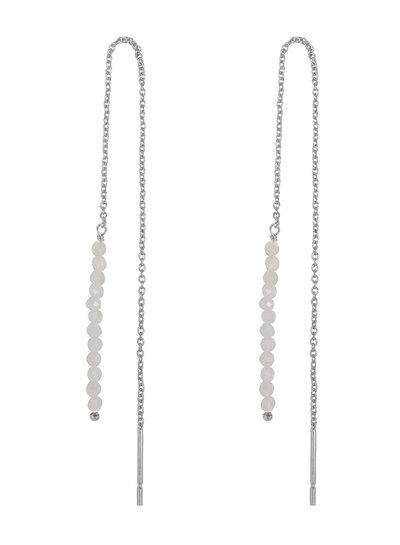 Marissa Eykenloof Silver Eva earring moonstone beads
