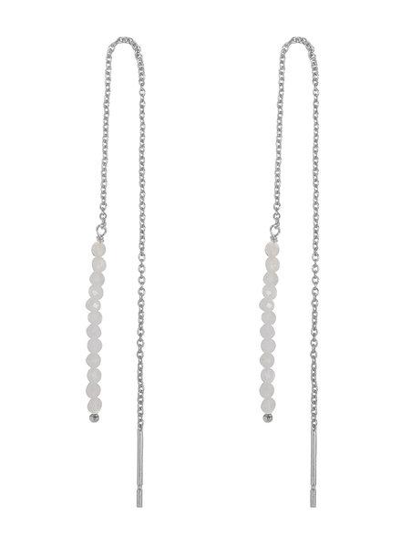 Marissa Eykenloof Silver earring moonstone beads