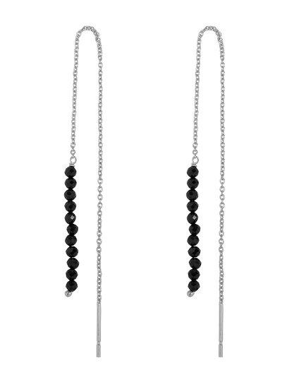 Marissa Eykenloof Silver Eva earring black onyx beads
