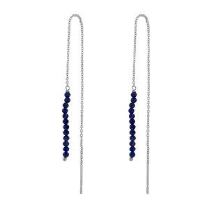 Marissa Eykenloof Zilveren oorbel Lapis lazuli kralen