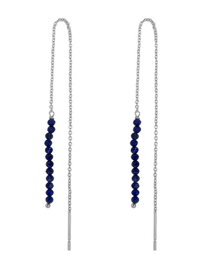 Marissa Eykenloof Silver Eva earring Lapis lazuli beads