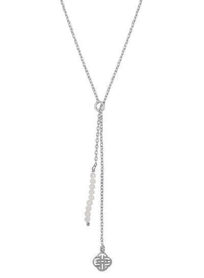 Marissa Eykenloof Silver Eva necklace logo moonstone beads
