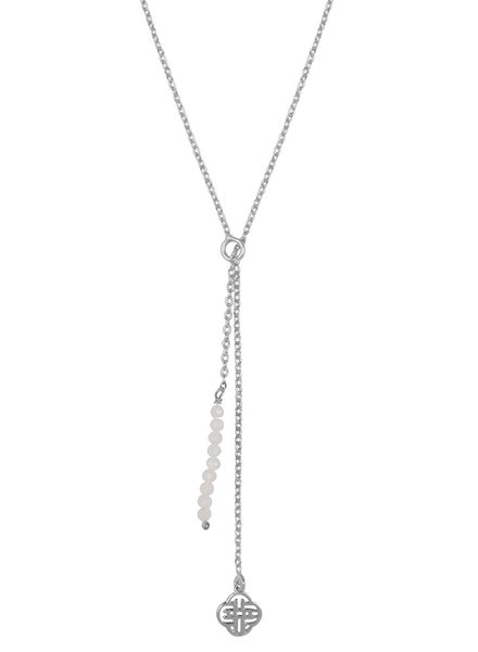 Marissa Eykenloof Silver necklace moonstone beads