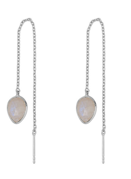 Marissa Eykenloof Silver earring with Moonstone