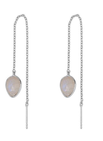 Marissa Eykenloof Zilveren oorbel met Maansteen