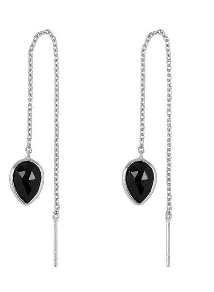 Marissa Eykenloof Zilveren oorbel met Zwarte Onyx