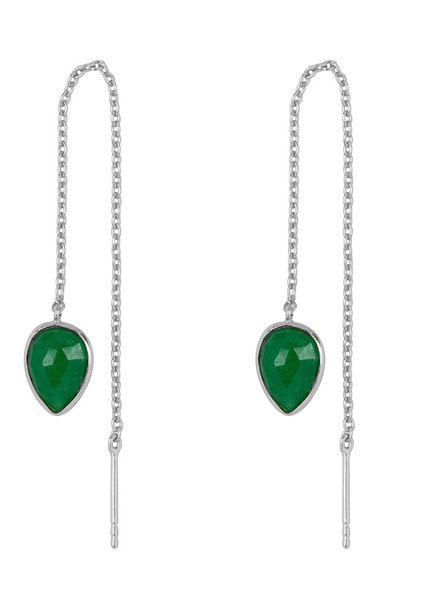 Marissa Eykenloof Silver earring with Green Aventurine