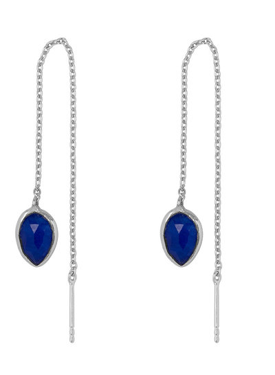 Marissa Eykenloof Yael Silver earring with Blue Aventurine