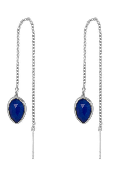Marissa Eykenloof Silver earring with Blue Aventurine