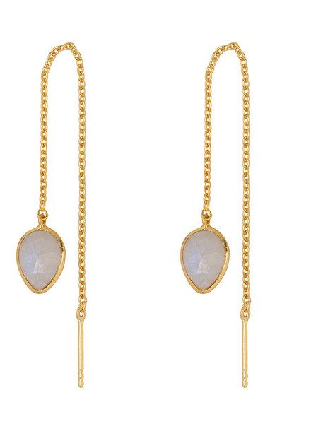 Marissa Eykenloof Yael Gold earring with Moonstone