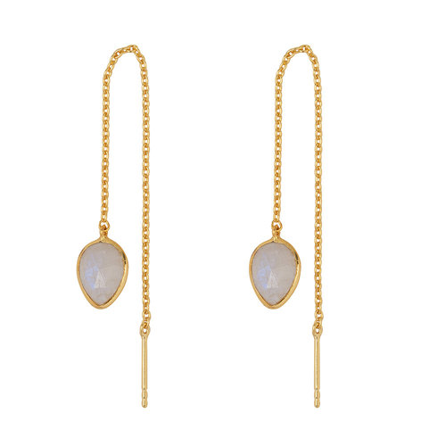 Marissa Eykenloof Gold earring with Moonstone