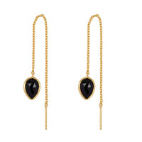 Gold earring with Black Onyx
