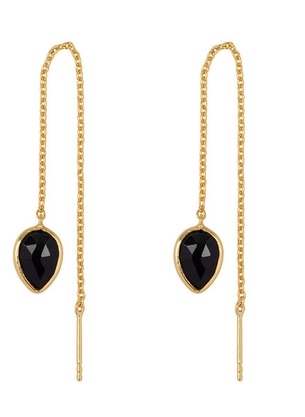 Marissa Eykenloof Yael Gold earring with Black Onyx