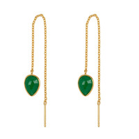 Gold earring with Green Aventurine