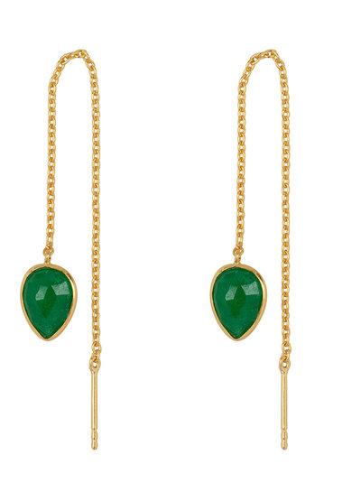 Marissa Eykenloof Yael Gold earring with Green Aventurine
