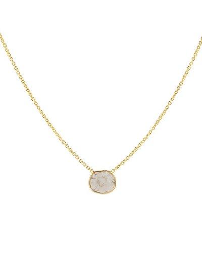 Marissa Eykenloof 14K Gold necklace with sliced diamond