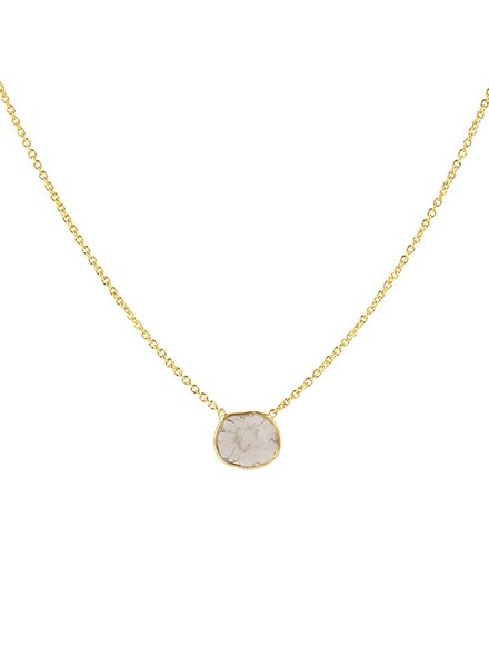 Marissa Eykenloof 14ct Gold necklace with sliced diamond
