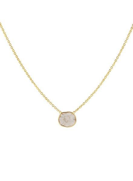 Marissa Eykenloof 14k Gouden ketting met sliced diamant