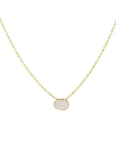 Marissa Eykenloof Fine jewelry: 14k Gouden ketting met sliced diamant