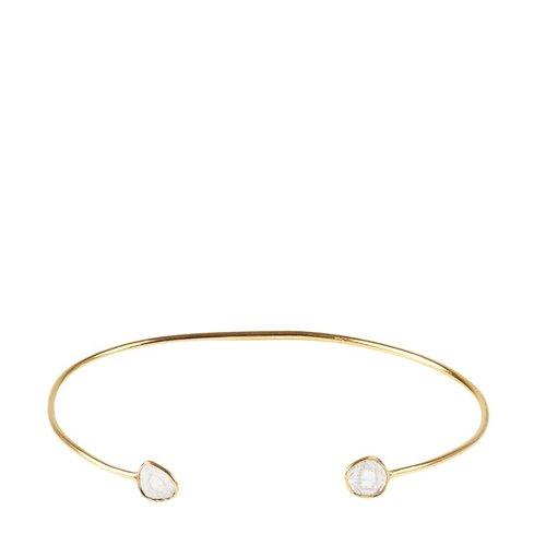 Marissa Eykenloof 14k Gouden bangle met sliced diamant