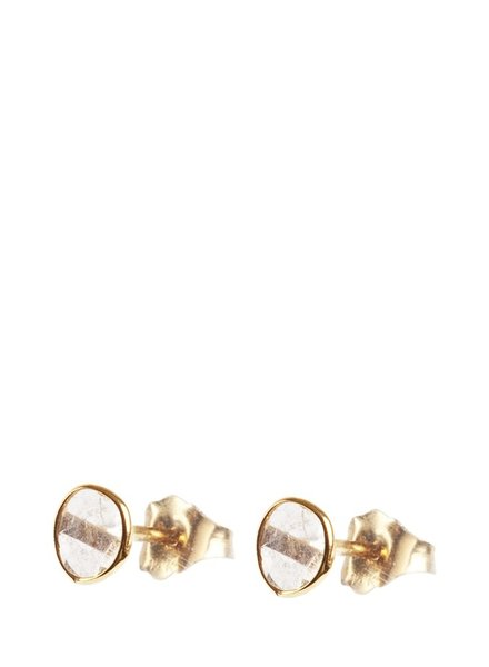 Marissa Eykenloof 14ct Gold earring with sliced diamond