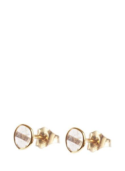 Marissa Eykenloof 14k Gouden oorbellen met sliced diamant