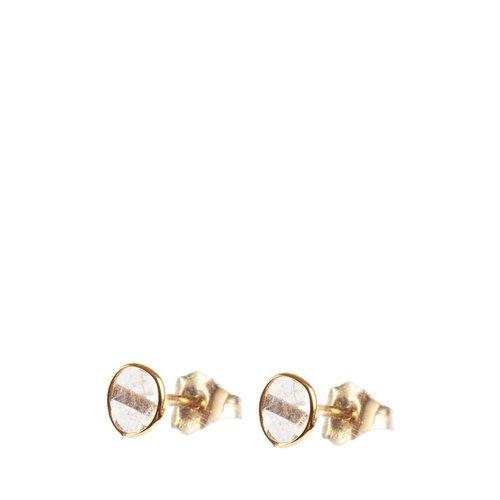 Marissa Eykenloof 14ct Gold earring with sliced diamond