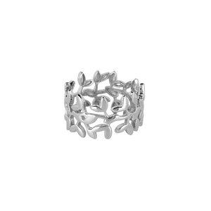 Marissa Eykenloof Ring breed zilver